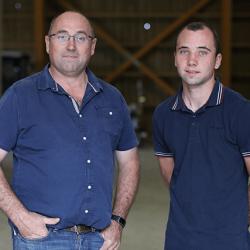 jean-francois et fabien berthelot, 2 agriculteurs